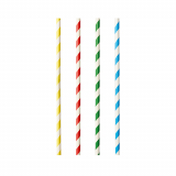 10 x  100 Shake-Halme, Papier pure Ø 8 mm · 21 cm farbig sortiert Stripes