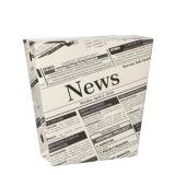 3 x  50 Pommes-Frites-Schütte, Pappe 1200 ml 4,3 cm x 14,5 cm x 11 cm Newsprint mit Klappdeckel