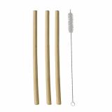10 x  12 Trinkhalme, Bambus pure Ø 1 cm · 23 cm inkl. Reinigungsbürste