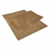 6 x  Einschlagpapiere, Pergament-Ersatz 35 cm x 25 cm braun fettdicht