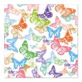 10 x  20 Servietten, 3-lagig 1/4-Falz 33 cm x 33 cm Butterfly's flight