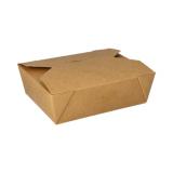 3 x  50 Lunchboxen, Pappe 1000 ml 5,5 cm x 13,5 cm x 16,8 cm braun