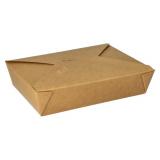3 x  50 Lunchboxen, Pappe pure 1500 ml 4,8 cm x 14 cm x 19,7 cm braun