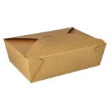 3 x  50 Lunchboxen, Pappe 2000 ml 6,5 cm x 14 cm x 19,7 cm braun