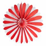 3 x  Dekofächer Ø 120 cm rot/weiss schwer entflammbar