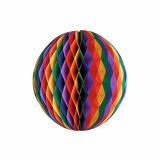 10 x  Wabenball Ø 30 cm Rainbow schwer entflammbar