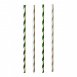 20 x  25 Trinkhalme, Papier Ø 6 mm · 20 cm farbig sortiert Stripes