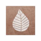 14 x  20 Servietten, 3-lagig 1/4-Falz 25 cm x 25 cm natur Graphic Leaves