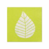 14 x  20 Servietten, 3-lagig 1/4-Falz 25 cm x 25 cm grün Graphic Leaves