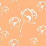10 x  20 Servietten, 3-lagig 1/4-Falz 33 cm x 33 cm apricot Poppy