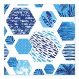 10 x  20 Servietten, 3-lagig 1/4-Falz 33 cm x 33 cm Kaleidoscope