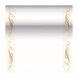 4 x  Tischläufer, stoffähnlich, PV-Tissue Mix ROYAL Collection 24 m x 40 cm gold Megan