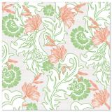 5 x  50 Servietten ROYAL Collection 1/4-Falz 40 cm x 40 cm rosé Agnes