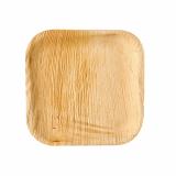 10 x  6 Teller, Palmblatt pure eckig 18 cm x 18 cm x 1,5 cm