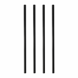 8 x  500 Shake-Halme PLA pure Ø 8 mm · 20 cm schwarz