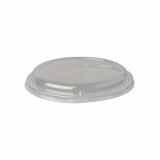 20 x  50 Dom-Deckel, PLA pure rund Ø 13,9 cm · 2 cm transparent