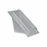 10 x  50 Sandwichboxen mit Klappdeckeln, PLA pure eckig 8,8 cm x 8,5 cm x 16,7 cm transparent klein