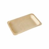 10 x  50 Fingerfood - Teller, Holz pure eckig 19,5 cm x 14 cm