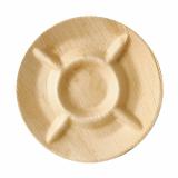 6 x  6 Teller, Palmblatt pure 5-geteilt Ø 24,5 cm · 2 cm