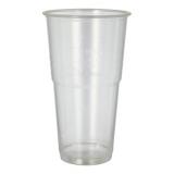 12 x  12 Kaltgetränkebecher, PLA pure 0,5 l Ø 9,5 cm · 16,2 cm glasklar mit Schaumrand