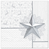 5 x  50 Servietten ROYAL Collection 1/4-Falz 40 cm x 40 cm weiss Rising Star