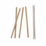 10 x  1000 Rührstäbchen, Holz pure 14 cm x 6 mm einzeln gehüllt