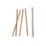 10 x  1000 Rührstäbchen, Holz pure 11 cm x 5 mm einzeln gehüllt