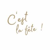 15 x  20 Servietten, 3-lagig 1/4-Falz 33 cm x 33 cm weiss C´est La Fete
