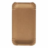 4 x  250 Teller, Pappe pure eckig 11 cm x 17,5 cm braun