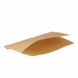 1000 Hot Dog-Tüten pure 18 cm x 11 cm braun fettdicht