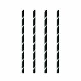 8 x  100 Shake-Halme, Papier pure Ø 8 mm · 20 cm schwarz/weiss Stripes