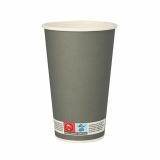 20 x  20 Trinkbecher, Pappe 0,4 l Ø 9 cm · 13,5 cm grau Beer