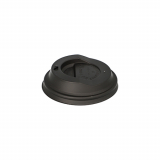 20 x  50 Dom-Deckel, C-PLA pure rund Ø 8 cm · 2,1 cm schwarz