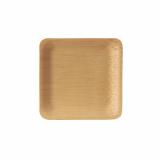 25 x  10 Fingerfood - Teller, Bambus pure eckig 1,5 cm x 8,5 cm x 8,5 cm