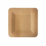 25 x  10 Teller, Bambus pure eckig 1,5 cm x 18 cm x 18 cm