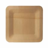 25 x  10 Teller, Bambus pure eckig 1,5 cm x 23 cm x 23 cm