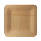 25 x  10 Teller, Bambus pure eckig 1,5 cm x 25,5 cm x 25,5 cm