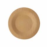 25 x  10 Teller, Bambus pure ungeteilt Ø 18 cm · 1,5 cm