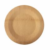 25 x  10 Teller, Bambus pure ungeteilt Ø 23 cm · 1,5 cm