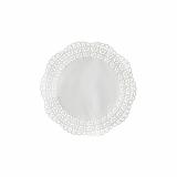 15 x  100 Tortenspitzen Fine Line rund Ø 20 cm weiss Firenze Premium-Qualität