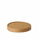 20 x  25 Deckel für Suppenbecher, Pappe pure rund Ø 11,5 cm · 1,6 cm braun 100% Fair