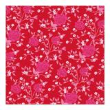 10 x  20 Servietten, 3-lagig 1/4-Falz 33 cm x 33 cm Rosy Allover