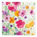 10 x  20 Servietten, 3-lagig 1/4-Falz 33 cm x 33 cm Flower Field