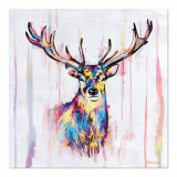 10 x  20 Servietten, 3-lagig 1/4-Falz 33 cm x 33 cm Colourful Deer