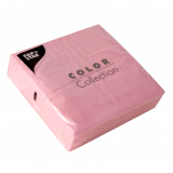 12 x  100 Servietten, 1-lagig 1/4-Falz 33 cm x 33 cm rosa