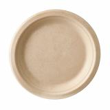 12 x  12 Teller, Zuckerrohr pure ungeteilt Ø 18 cm · 2 cm natur
