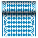Tischläufer, stoffähnlich, Airlaid 24 m x 40 cm Bayrisch Blau