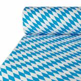 Papiertischtuch mit Damastprägung 50 m x 1 m Bayrisch Blau