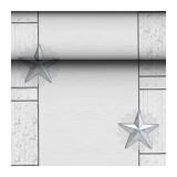 8 x  Tischläufer, Tissue ROYAL Collection 24 m x 40 cm weiss Rising Star