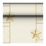 8 x  Tischläufer, Tissue ROYAL Collection 24 m x 40 cm champagner Rising Star